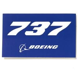 Calcomania Azul 737