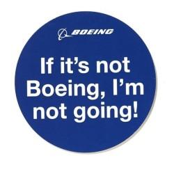 Calcomania Boeing Im not Going