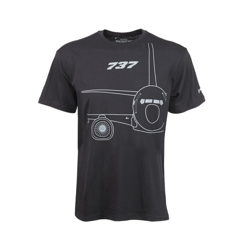 Remera 737 Midnight Silver